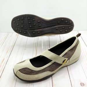 Lands' End | Taupe Suede Mary Jane Comfort Flats